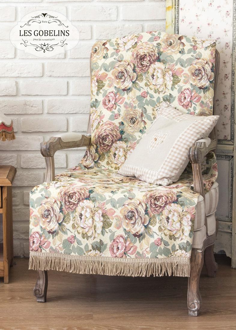 Покрывало Les Gobelins Накидка на кресло Fleurs Hollandais (70х190 см)