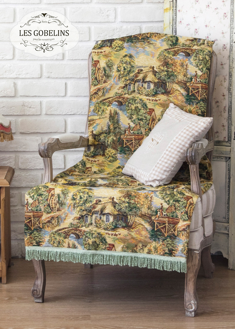 Покрывало Les Gobelins Накидка на кресло Provence (100х140 см)