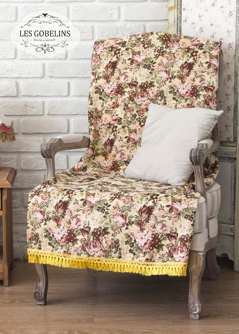Покрывало Les Gobelins Накидка на кресло Bouquet Francais (100х190 см)