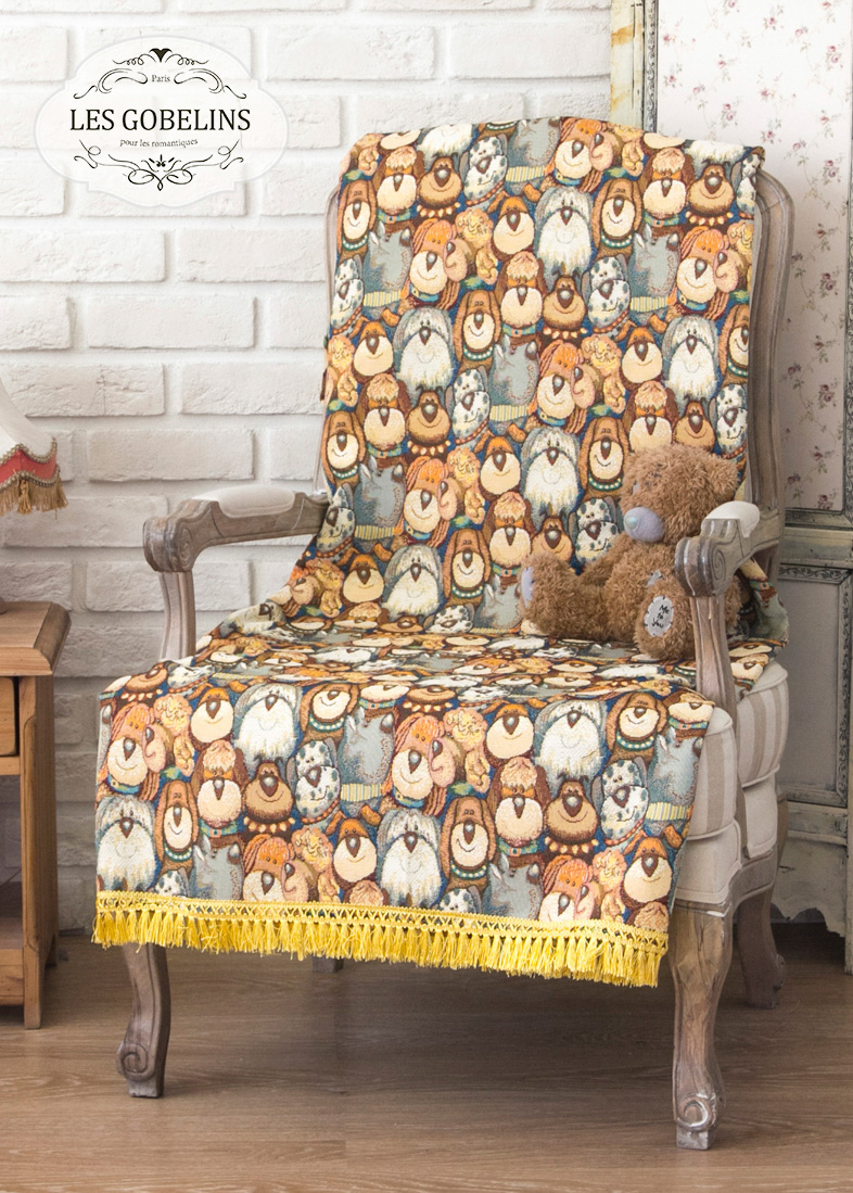 Детские покрывала, подушки, одеяла Les Gobelins Детская Накидка на кресло Chiens (60х190 см)