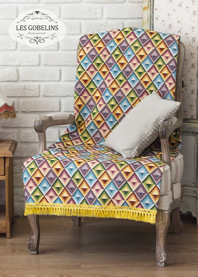 где купить Покрывало Les Gobelins Накидка на кресло Kaleidoscope (80х160 см) по лучшей цене