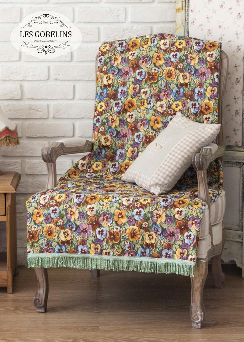 где купить Покрывало Les Gobelins Накидка на кресло Fleurs De Jardin (70х170 см) по лучшей цене