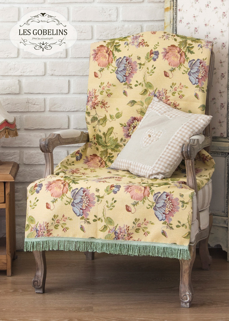 Покрывало Les Gobelins Накидка на кресло Gloria (100х160 см) покрывало les gobelins накидка на кресло rose vintage 100х160 см