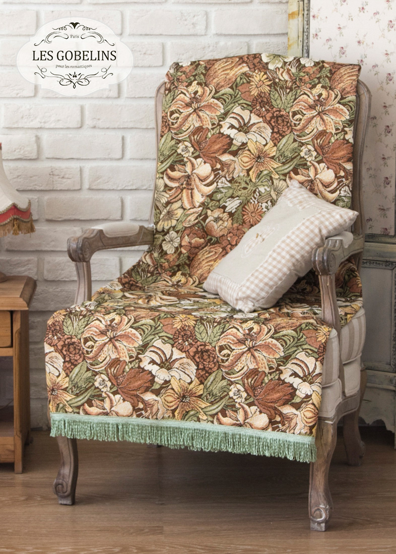 Покрывало Les Gobelins Накидка на кресло Art Nouveau Lily (100х120 см)