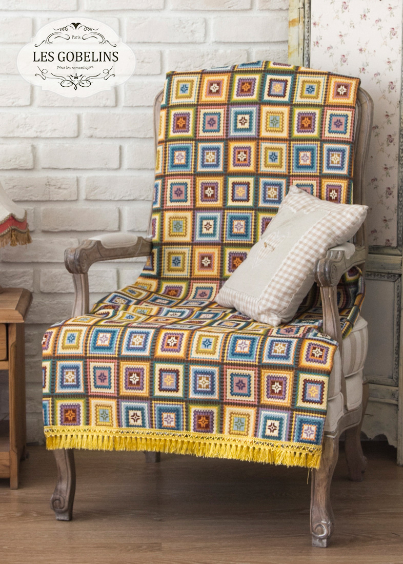 Покрывало Les Gobelins Накидка на кресло Labyrinthe (90х190 см) пледы и покрывала les gobelins накидка на кресло labyrinthe 50х160 см