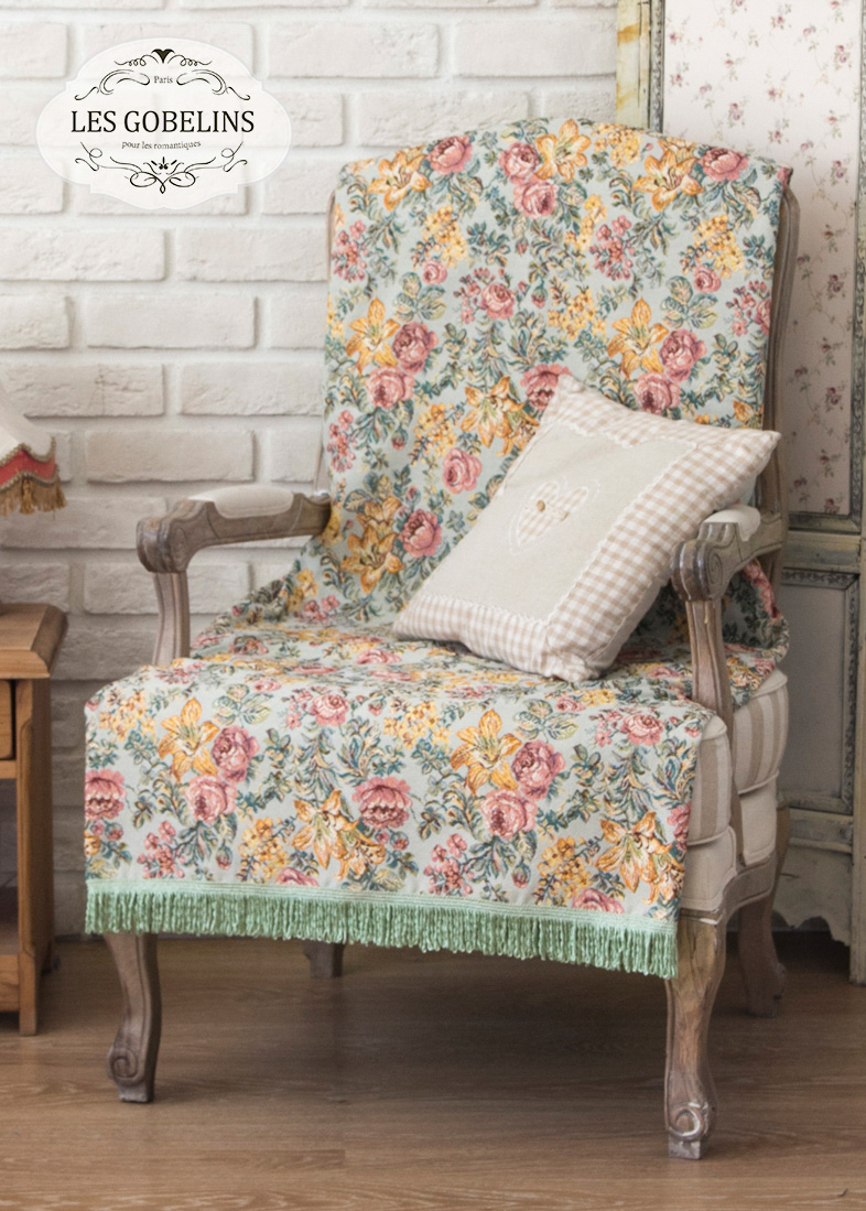 Покрывало Les Gobelins Накидка на кресло Arrangement De Fleurs (50х160 см) покрывало les gobelins накидка на кресло arrangement de fleurs 100х120 см