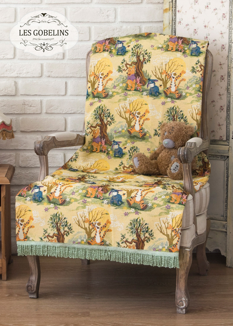 Детские покрывала, подушки, одеяла Les Gobelins Детская Накидка на кресло Winnie L'Ourson (90х190 см) детские покрывала подушки одеяла les gobelins детская накидка на кресло winnie l ourson 70х180 см