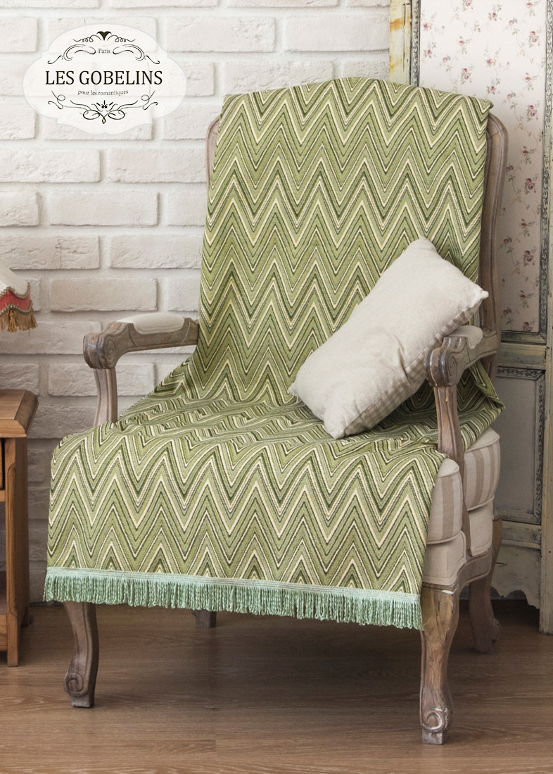 Покрывало Les Gobelins Накидка на кресло Zigzag (50х150 см) покрывало les gobelins накидка на кресло zigzag 70х190 см