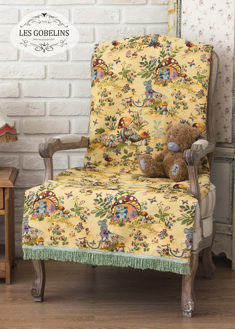 Детские покрывала, подушки, одеяла Les Gobelins Детская Накидка на кресло Souris Drole (70х170 см)