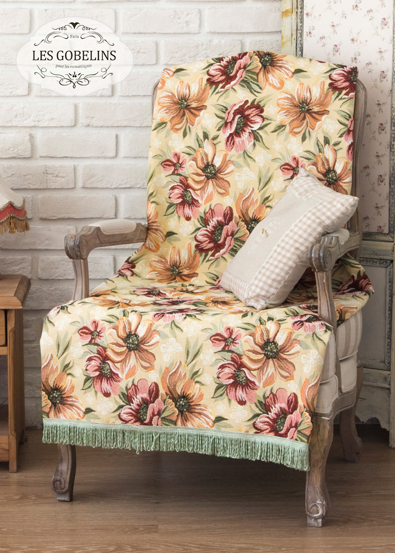 Покрывало Les Gobelins Накидка на кресло Coquelicot (100х130 см)