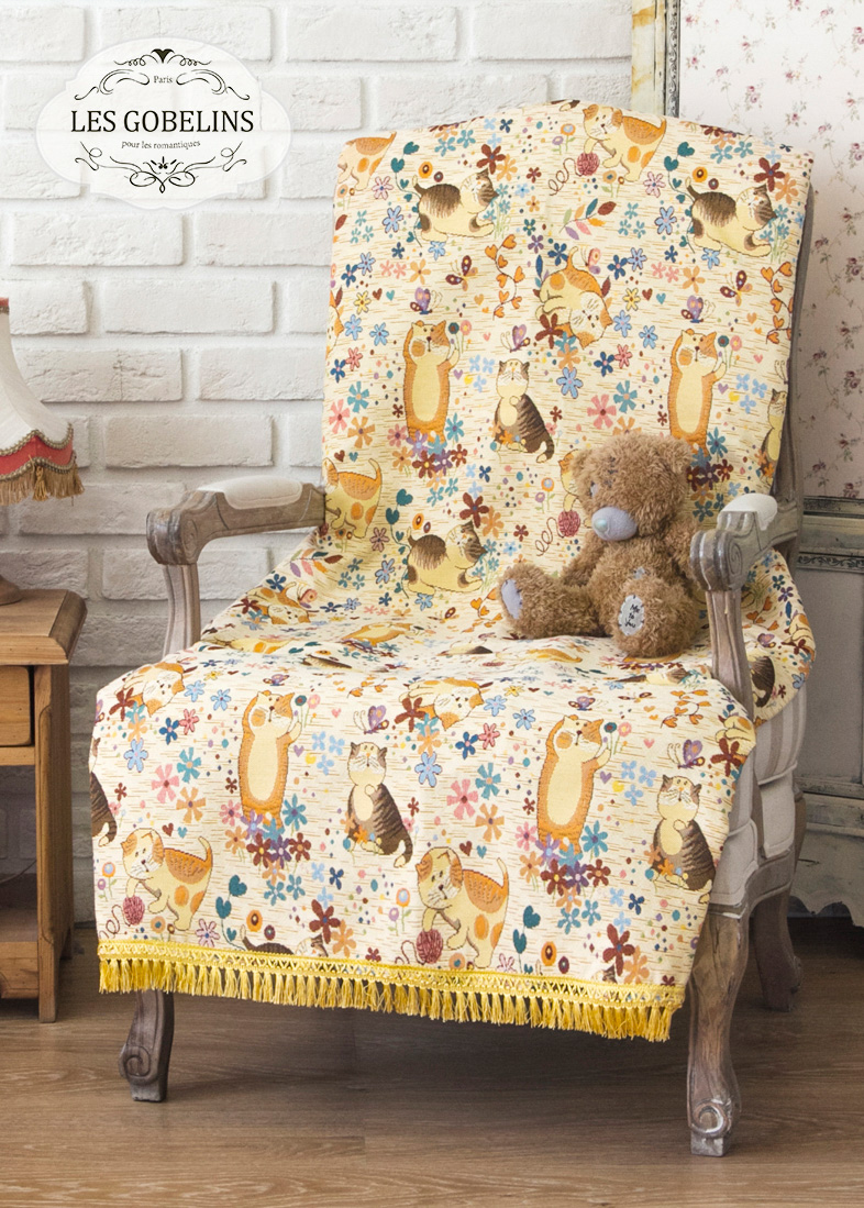 Детские покрывала, подушки, одеяла Les Gobelins Детская Накидка на кресло Chatons Animes (50х120 см)