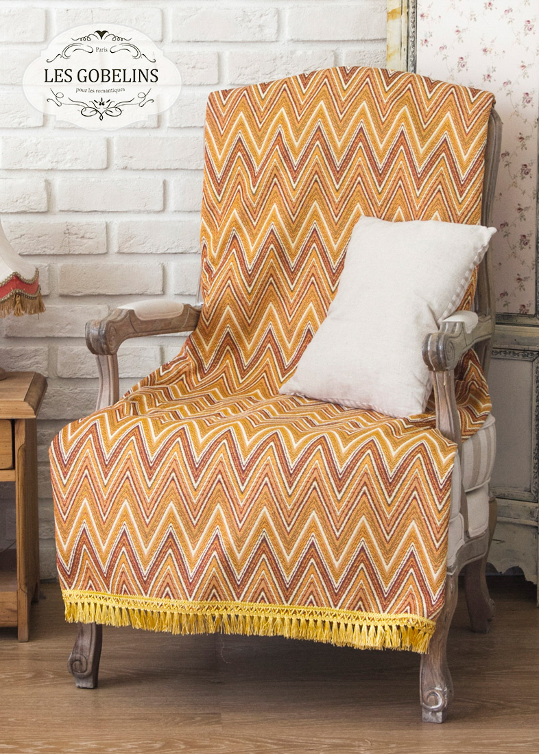 Покрывало Les Gobelins Накидка на кресло Zigzag (70х130 см) покрывало les gobelins накидка на кресло zigzag 100х200 см