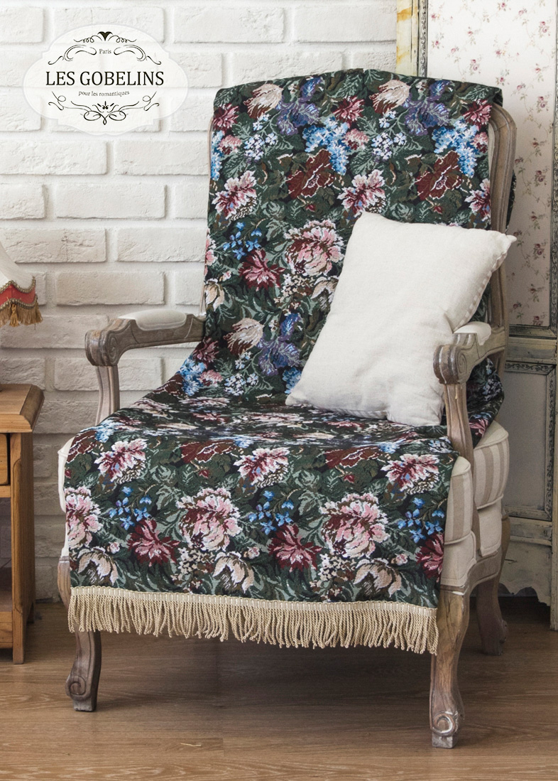 Покрывало Les Gobelins Накидка на кресло Jardin D'Amerique (70х160 см)