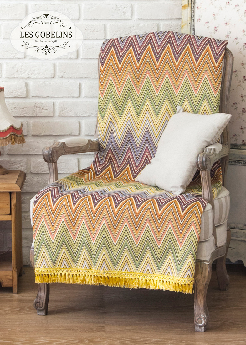 Покрывало Les Gobelins Накидка на кресло Cordillere (90х160 см)