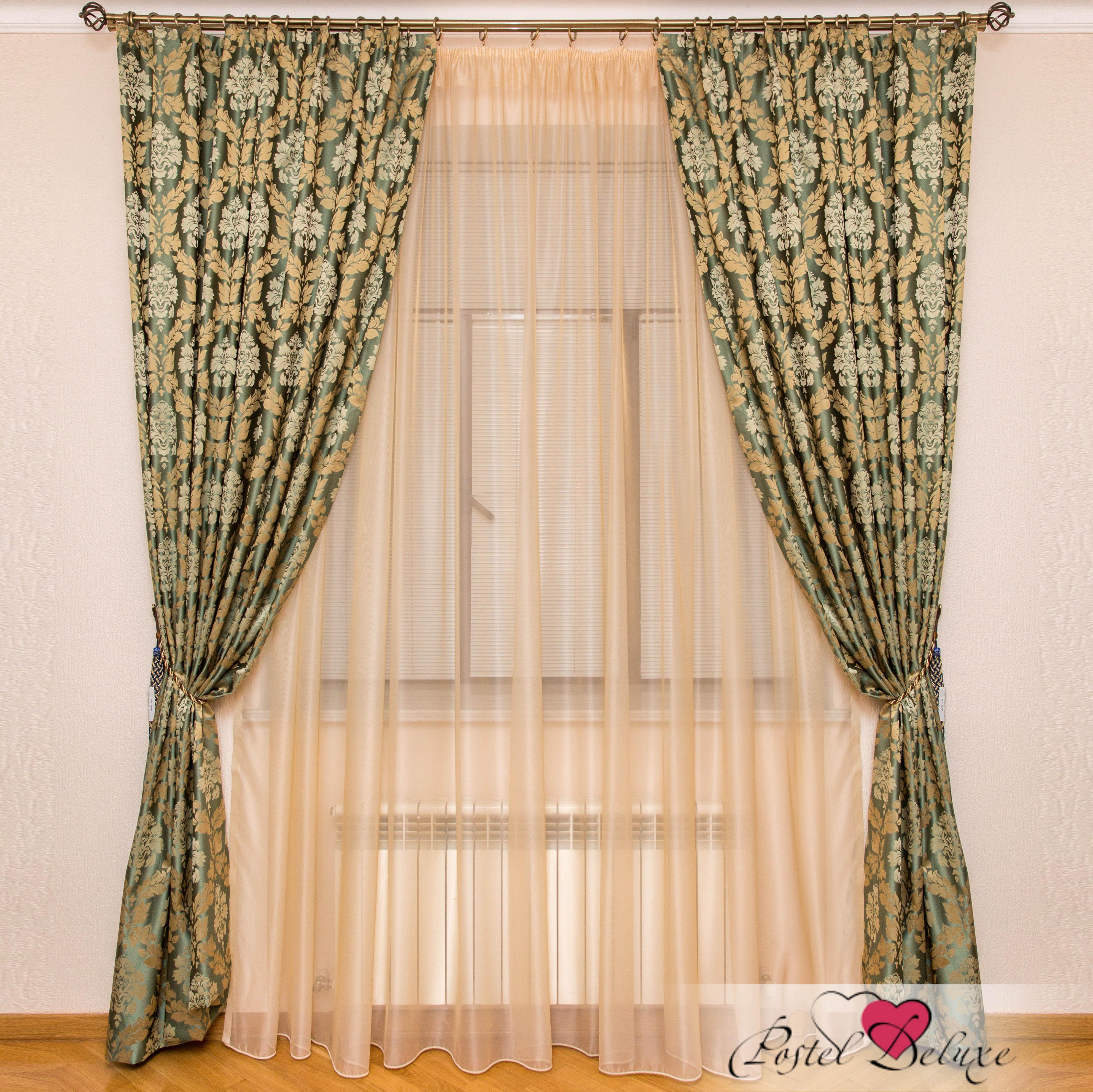 Шторы Interiotex Классические шторы Кальяри Цвет: Зеленый шторы tac классические шторы winx цвет персиковый 200x265 см