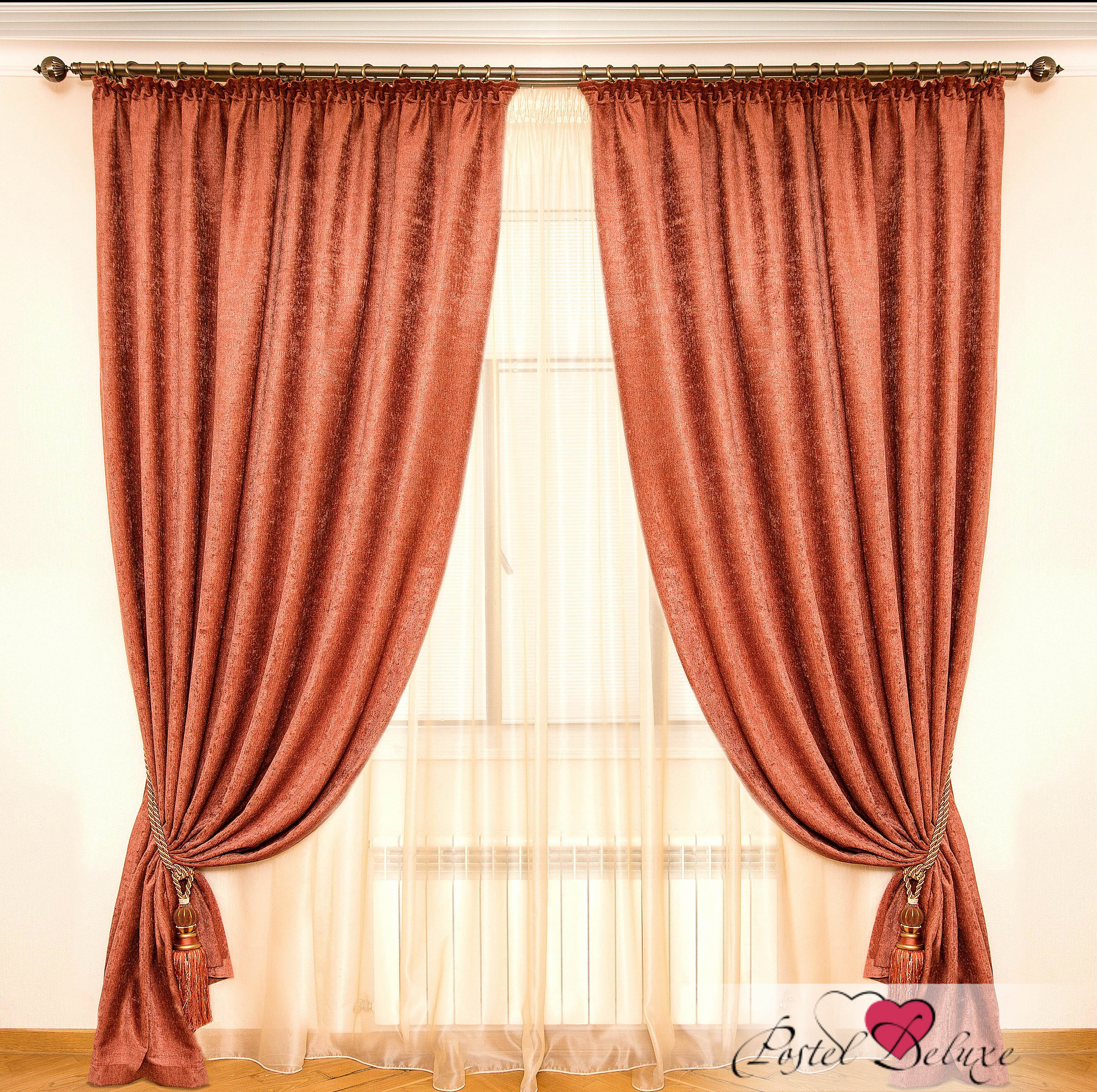 Шторы Interiotex Классические шторы Хельга Цвет: Терракотовый шторы kauffort классические шторы barolo
