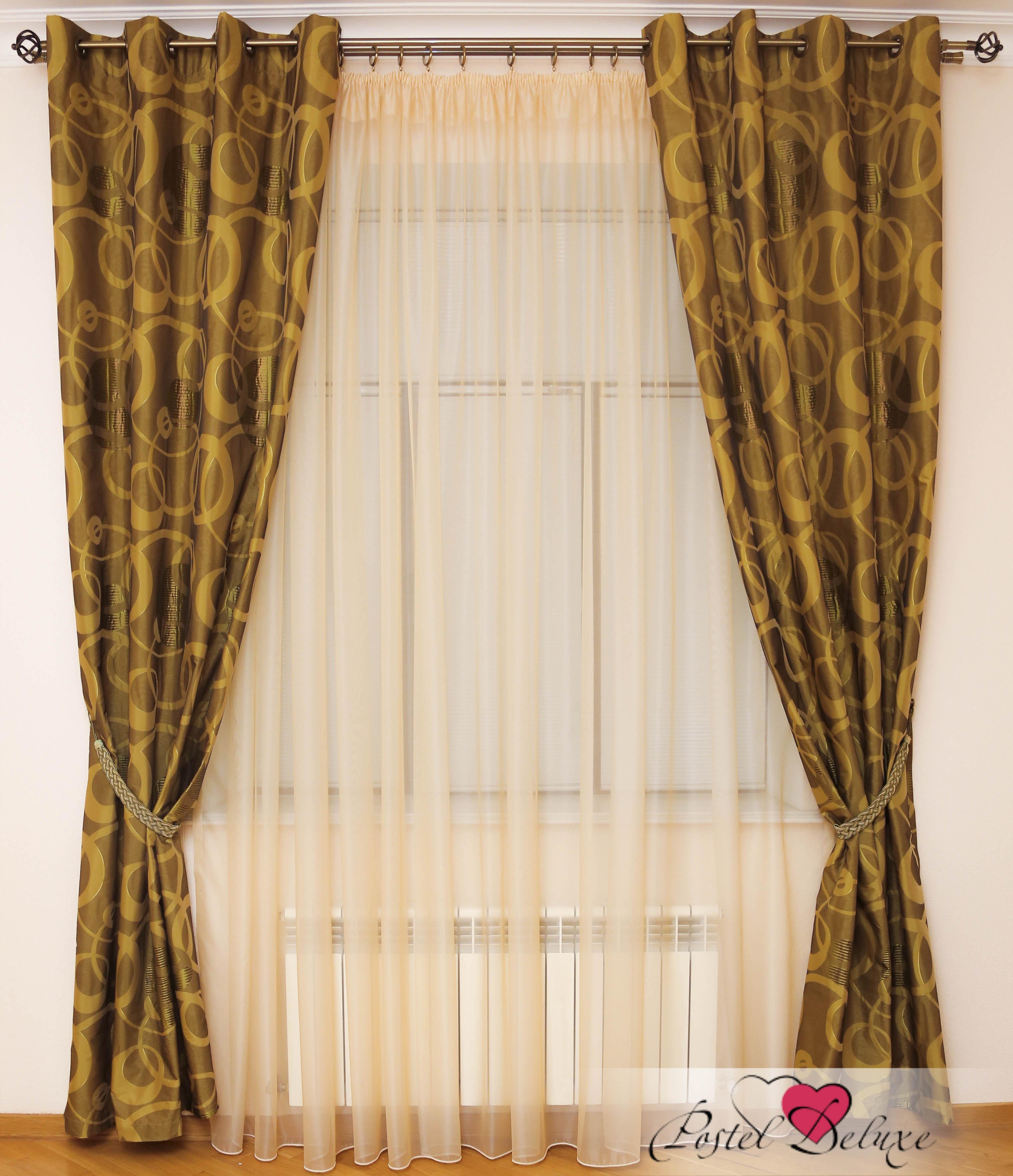 Шторы Interiotex Классические шторы Амадео Цвет: Зеленый