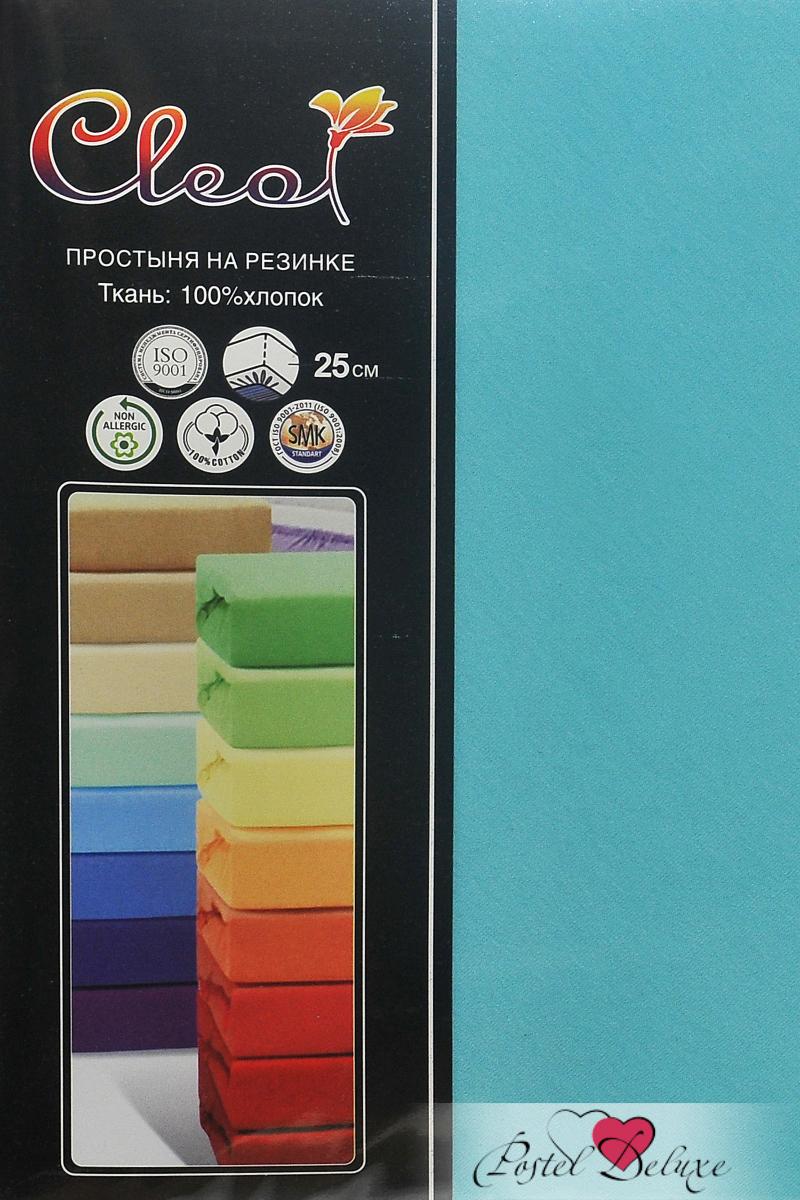 где купить Простыни Cleo Простыня на резинке Lukka Цвет: Бирюза (200х200 см) по лучшей цене