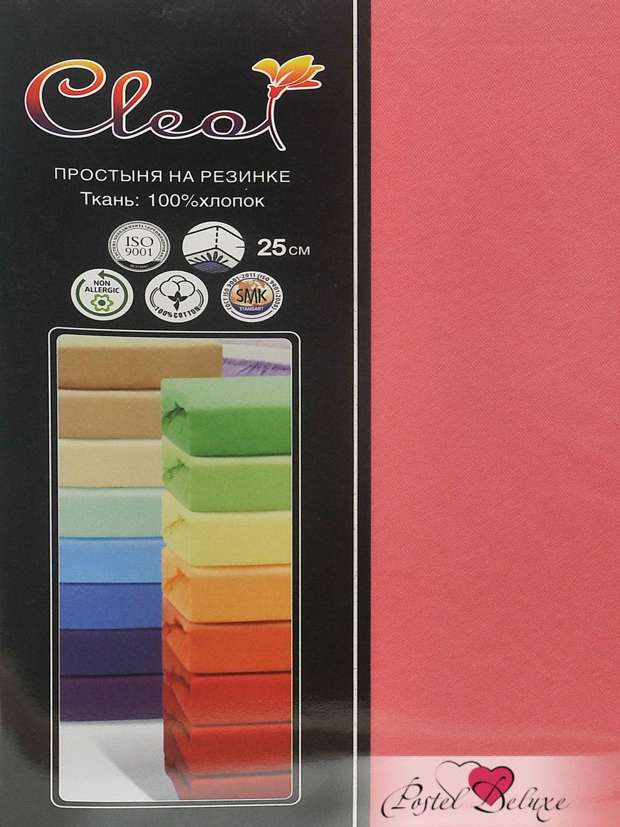 где купить Простыни Cleo Простыня на резинке Lukka Цвет: Коралл (200х200 см) по лучшей цене