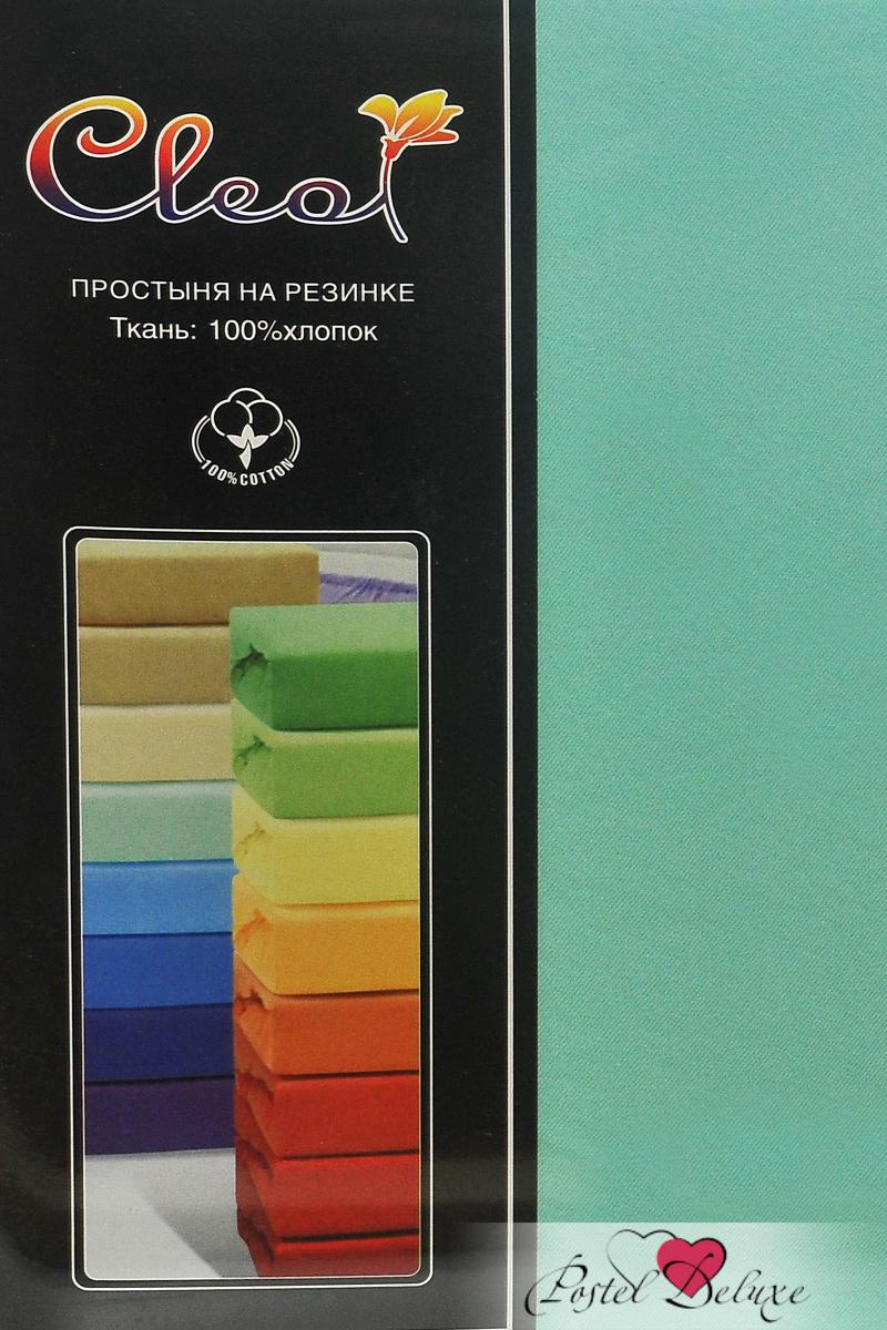 где купить Простыни Cleo Простыня на резинке Lukka Цвет: Ментол (200х200 см) по лучшей цене