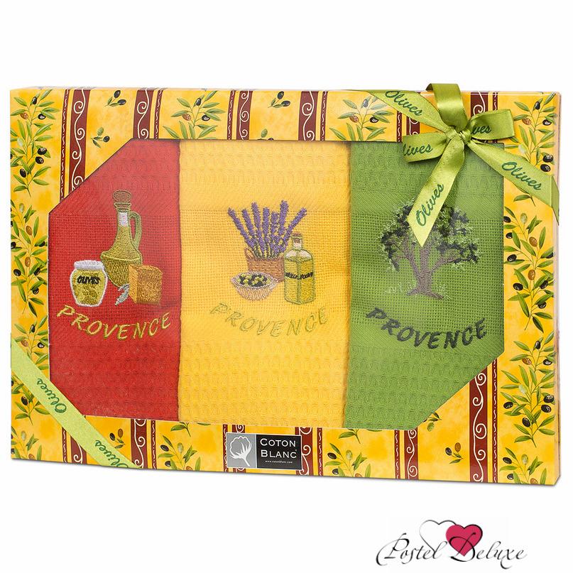 {} Coton Blanc Кухонное полотенце Olive Цвет: Радуга (несколько цветов в упаковке)