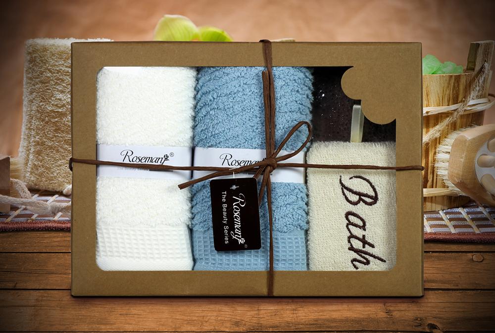 {} Tango Набор для ванной Thyrza Цвет: Белый, Голубой (Набор) полотенца tango полотенце merrill 75х150 см