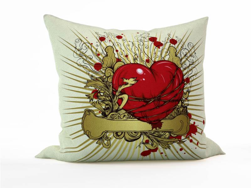 Декоративные подушки StickButik Декоративная подушка Сердечные Муки (45х45)