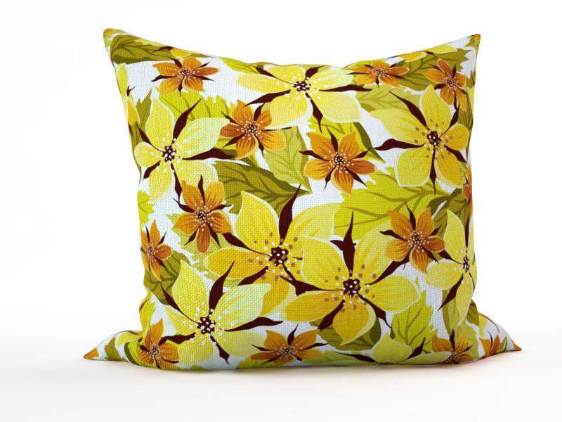 Декоративные подушки StickButik Декоративная подушка Россыпь Цветочков (45х45)