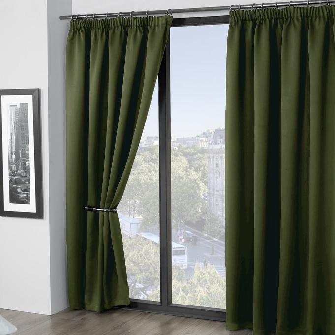 Шторы Amore Mio Классические шторы Grande Цвет: Темно-Зеленый набор для кухни pasta grande 1126804