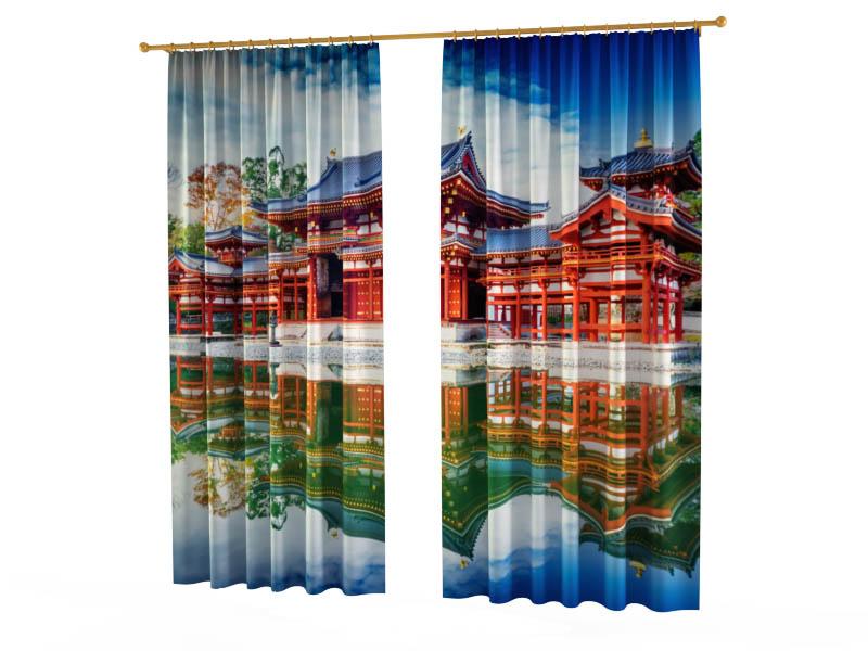 Шторы StickButik Фотошторы Буддийский Храм