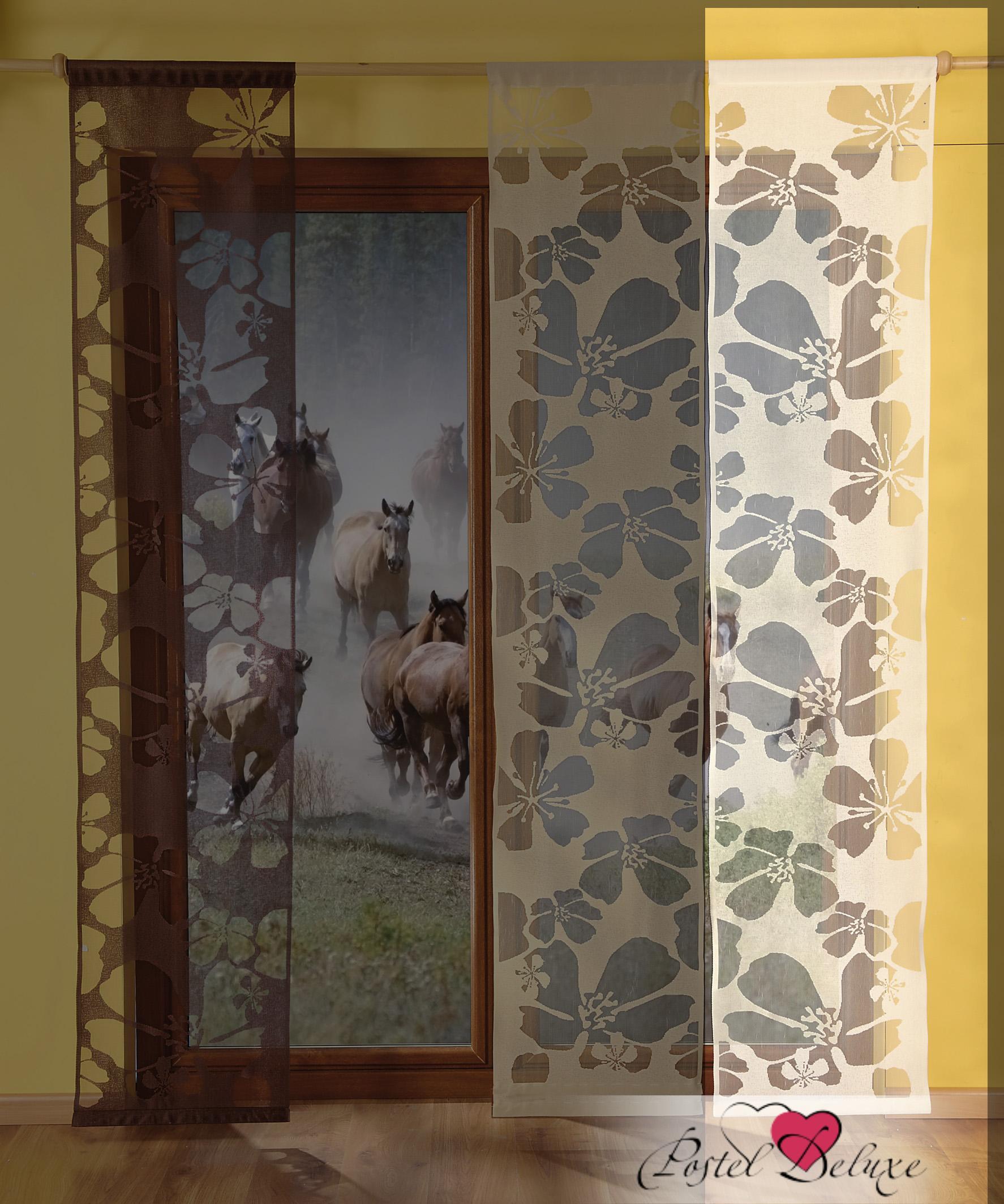 Шторы Wisan Японские шторы Kwiaty Цвет: Кремовый комплект штор для кухни wisan celina на ленте цвет белый оранжевый высота 180 см