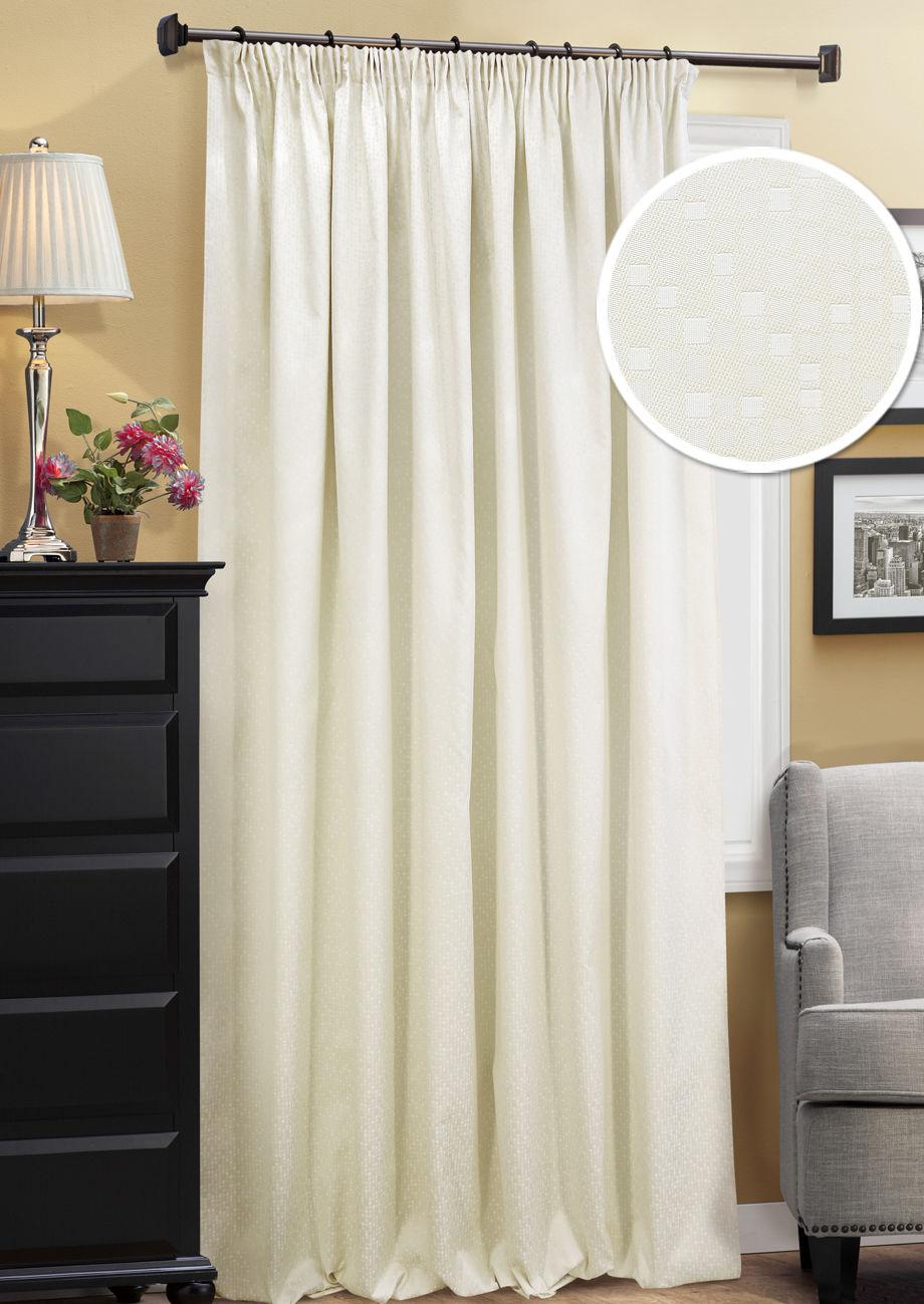 Шторы Kauffort Классические шторы Domino Цвет: Кремовый шторы kauffort классические шторы barolo