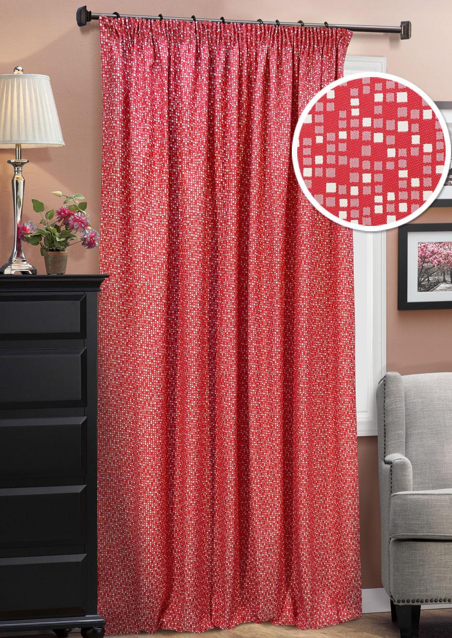 Шторы Kauffort Классические шторы Domino Цвет: Красный шторы kauffort классические шторы kimberly s цвет красный