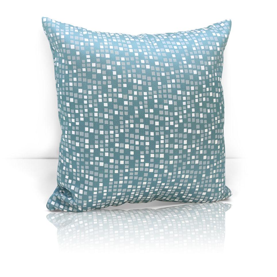 Декоративные подушки Kauffort Декоративная подушка Domino Цвет: Бирюзовый (40х40)