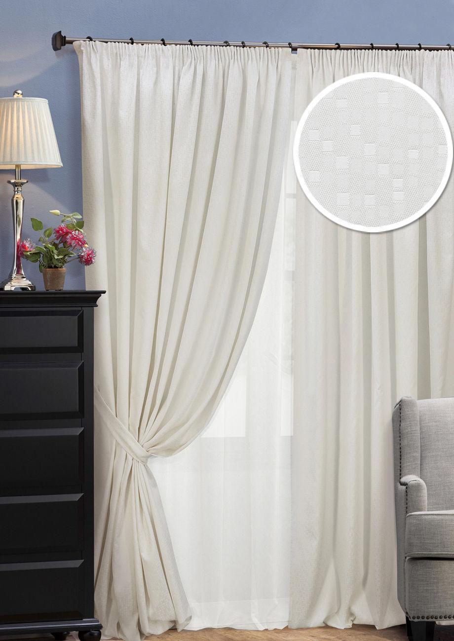 Шторы Kauffort Классические шторы Domino Цвет: Молочный шторы kauffort классические шторы barolo