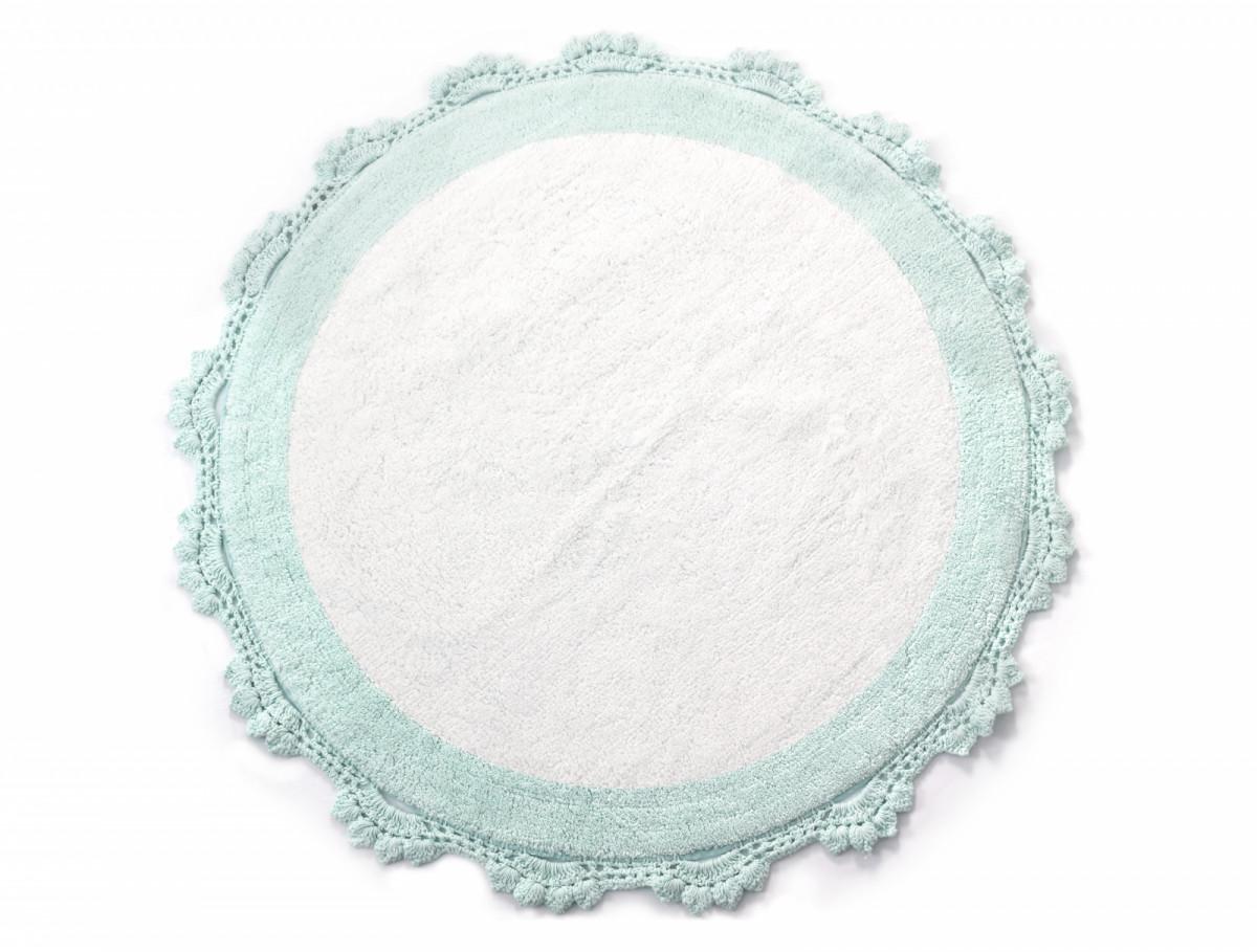 Аксессуары для ванной и туалета IRYA Коврик для ванной Doreen Цвет: Розово-Белый (90х90 см) аксессуары для ванной и туалета irya коврик для ванной tropic цвет салатовый 60х100 см