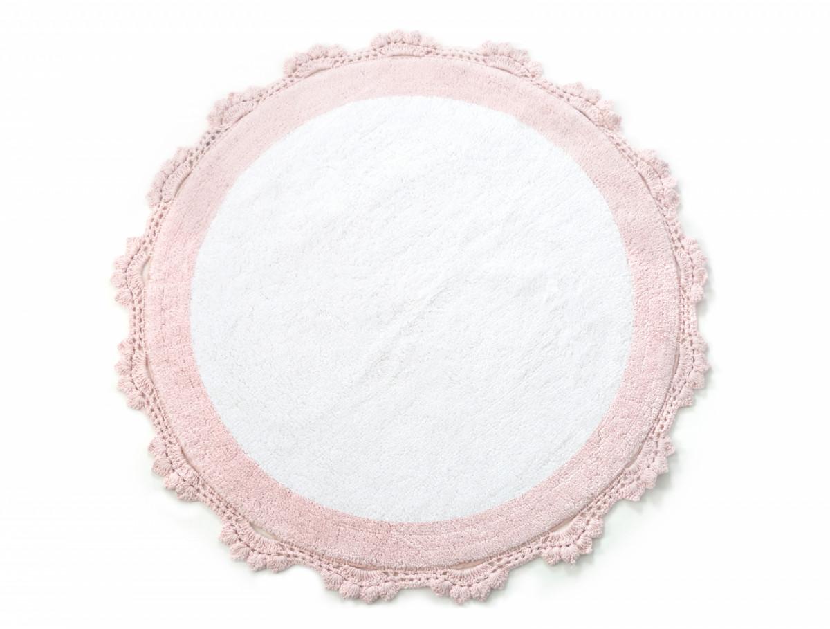 Аксессуары для ванной и туалета IRYA Коврик для ванной Doreen Цвет: Ментолово-Белый (90х90 см) аксессуары для ванной и туалета irya коврик для ванной tropic цвет салатовый 60х100 см