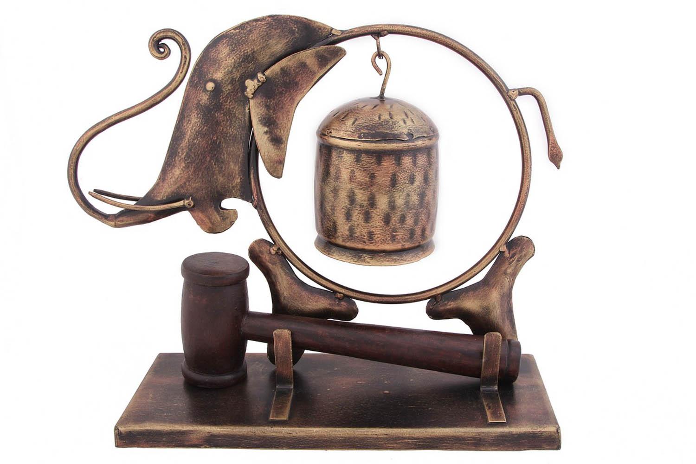{} Ганг Статуэтка-Гонг Слон (10х24х31 см) ганг статуэтка сова 4х7х8 см