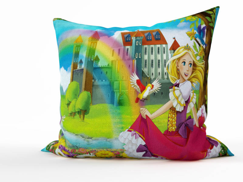 Декоративные подушки StickButik Декоративная подушка Радужная Принцесса (45х45)