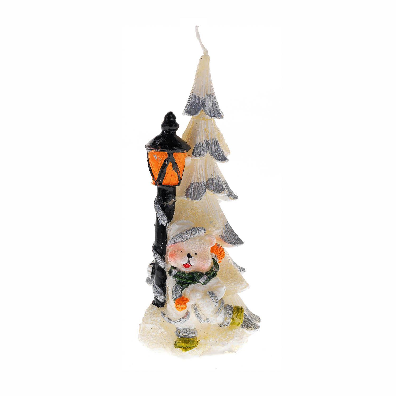 {} Свеча Елка С Мишкой (6х14 см) свеча ароматизированная bolsius ландыш высота 6 3 см