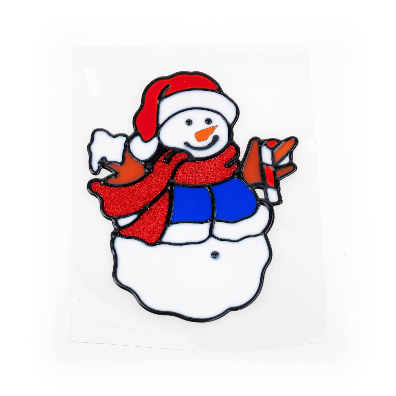 {}  Гелевая аппликация Снеговик (17 см)
