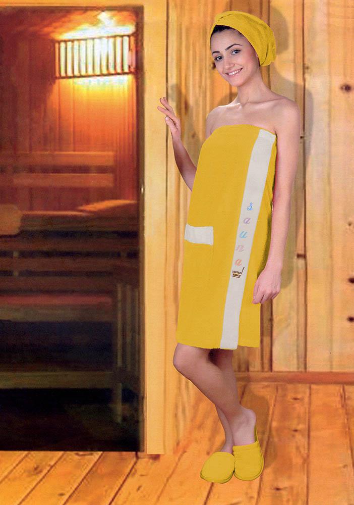Сауны, бани и оборудование Yagmur Набор для сауны Lola Цвет: Горчичный сауны бани и оборудование valentini набор для сауны fashion цвет песочный