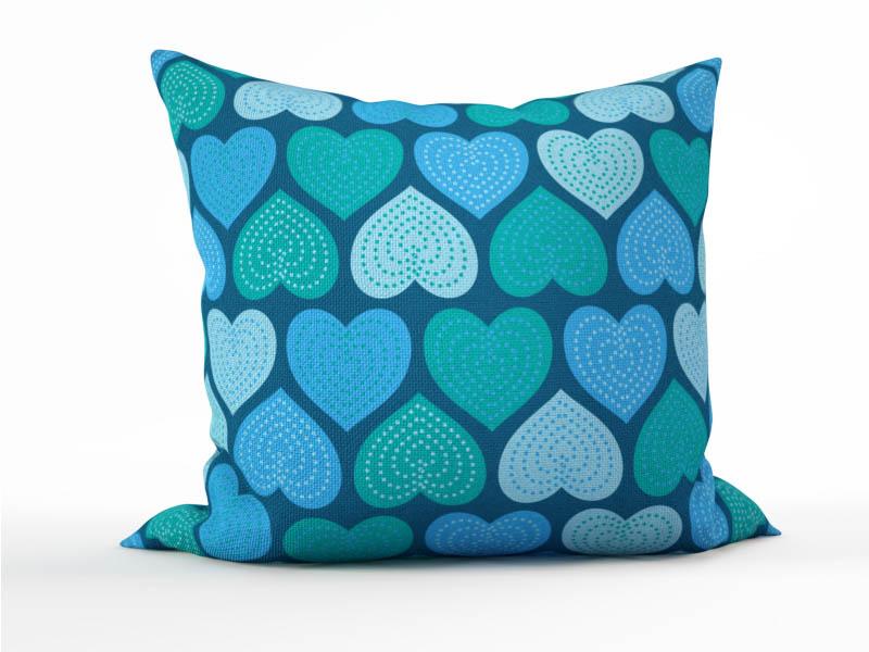 Декоративные подушки StickButik Декоративная подушка Мятные Сердечки (45х45)