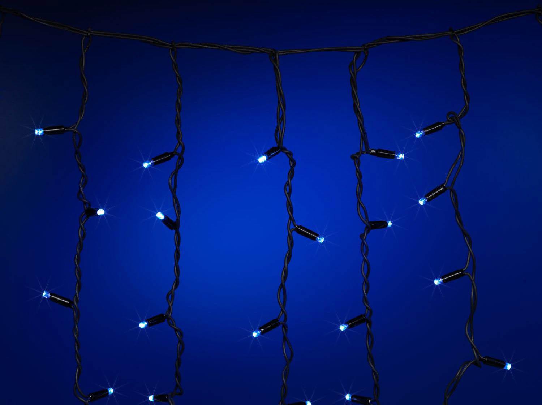 {}  Светодиодная гирлянда Бахрома Цвет: Синий (50х320 см) новогодняя гирлянда lunten ranta цвет фуксия длина 2 м 65517