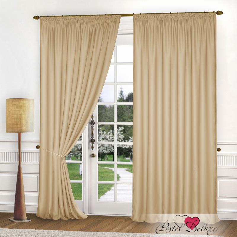 Шторы Elegante Классические шторы Спокойствие Цвет: Бежевый шторы tac классические шторы winx цвет персиковый 200x265 см