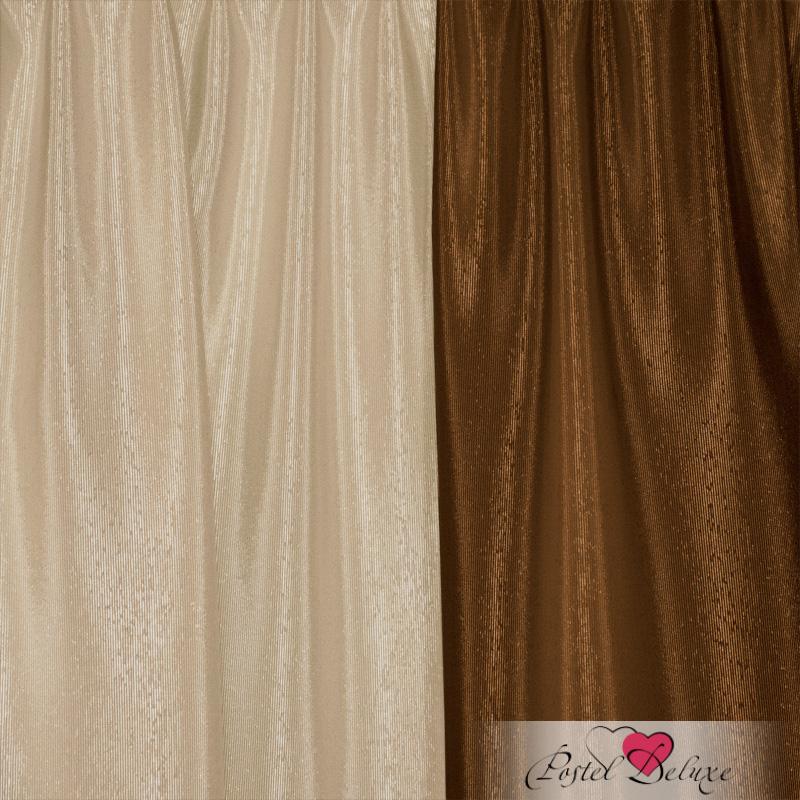 Шторы Elegante Классические шторы Миллениум Цвет: Коричневый, Светло-Бежевый шторы tac классические шторы winx цвет персиковый 200x265 см
