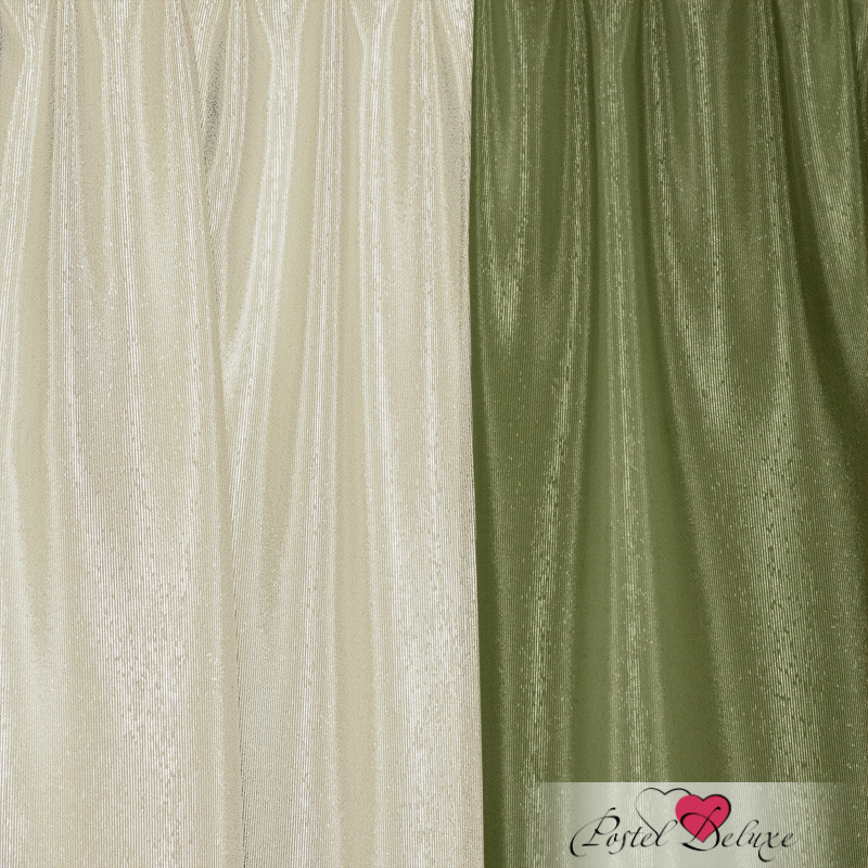 Шторы Elegante Классические шторы Миллениум Цвет: Оливковый, Молочный шторы tac классические шторы глянец цвет портьер розовый цвет тюля белый с бежевой полоской