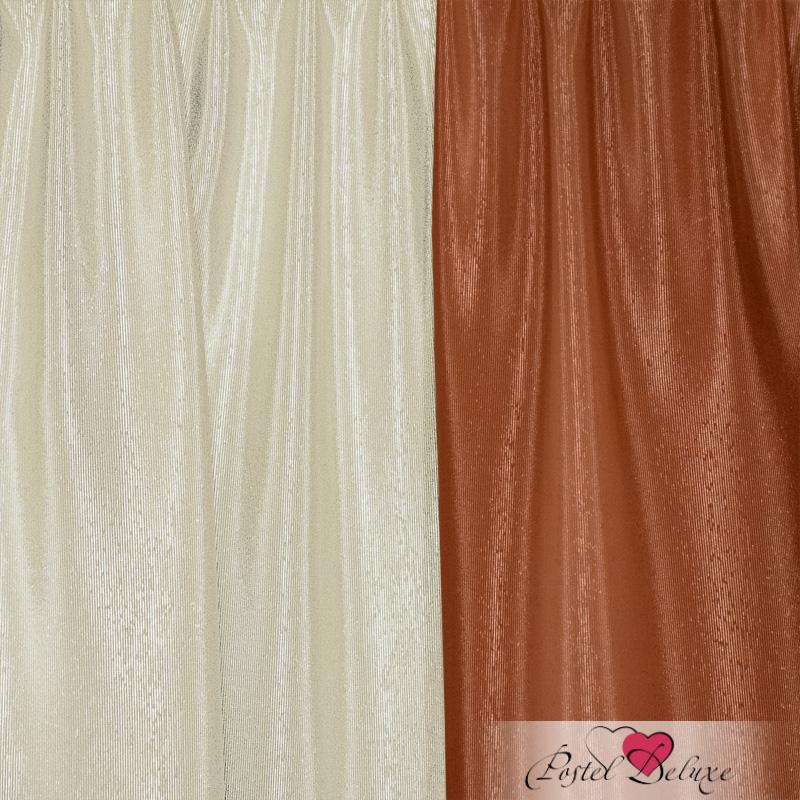 Шторы Elegante Классические шторы Миллениум Цвет: Терракотовый, Молочный шторы tac классические шторы winx цвет персиковый 200x265 см
