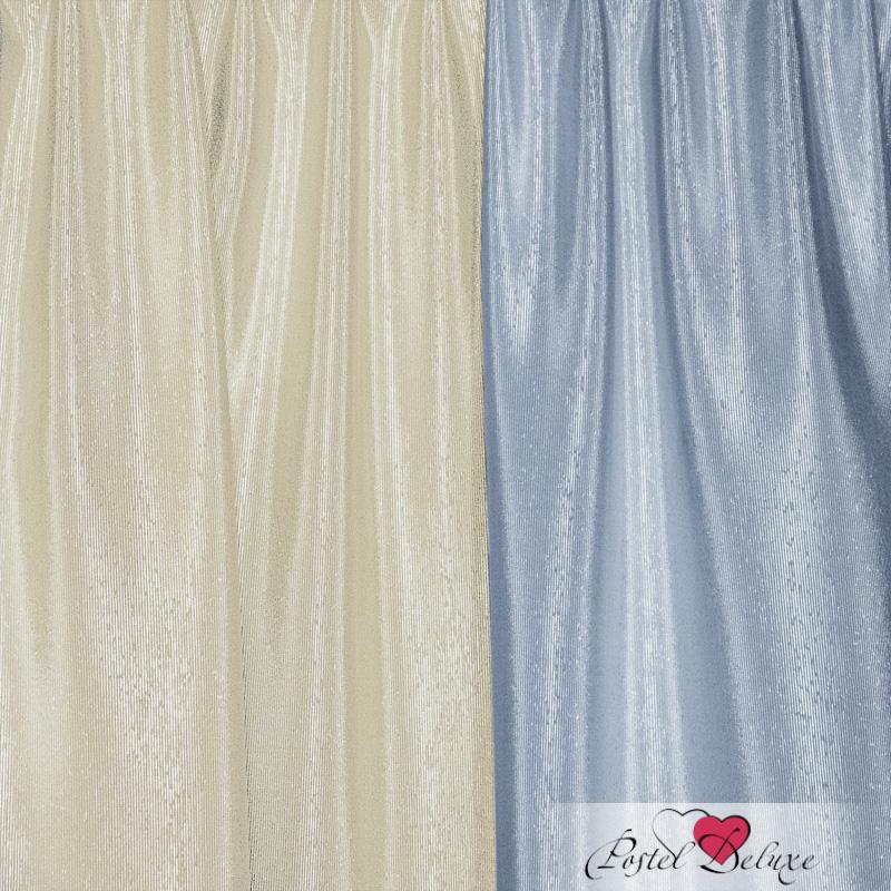 Шторы Elegante Классические шторы Миллениум Цвет: Голубой, Молочный шторы tac классические шторы глянец цвет портьер розовый цвет тюля белый с бежевой полоской