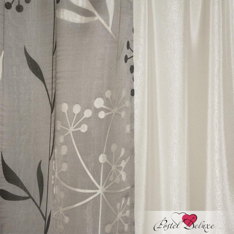 Шторы Elegante Классические шторы Сухоцветы Цвет: Молочный шторы tac классические шторы глянец цвет портьер розовый цвет тюля белый с бежевой полоской